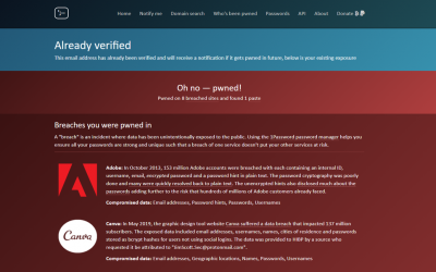 Not Again – I've been Pwned